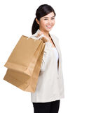 Woman holding shopping bag Stock Image