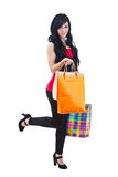 Woman holding shopping bags Royalty Free Stock Photos