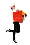 Woman holding  shopping bags Royalty Free Stock Image
