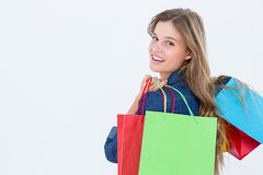 Woman holding shopping bags Royalty Free Stock Photo