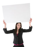 Woman Holding Sign Royalty Free Stock Photo