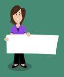 Woman holding sign Stock Photography