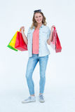 Woman holding some shopping bags Stock Photo