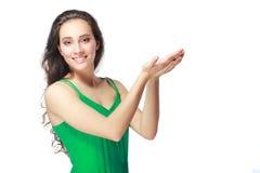 Woman holding something Stock Photos