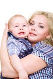 Woman holding son Royalty Free Stock Image