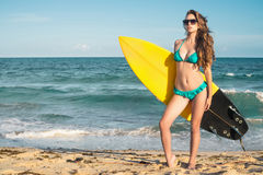 Surfer beach lifestyle people  Stock Images