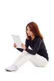 Woman holding tablet computer. Stock Photography