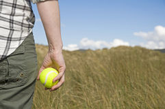 Free Woman Holding Tennis Ball Stock Images - 24687494