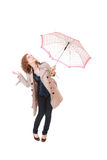 Woman holding an umbrella Stock Photography