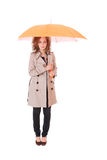 Woman holding an umbrella Royalty Free Stock Photography