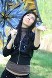 Woman holding umbrella Royalty Free Stock Image