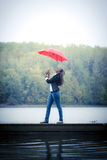 Woman holding an umbrella Royalty Free Stock Image