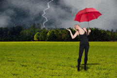 Woman Holding Umbrella Royalty Free Stock Photo