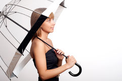 Woman holding umbrella Stock Photography