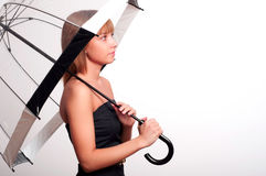 Woman holding umbrella Stock Image