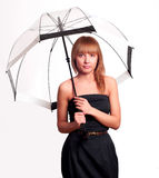 Woman holding umbrella Royalty Free Stock Image