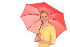 Woman holding an umbrella Stock Image