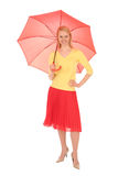 Woman holding an umbrella Stock Images