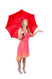 Woman Holding Umbrella Stock Image