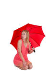 Woman Holding Umbrella Stock Images