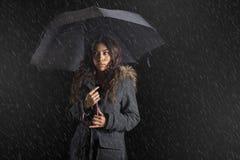 Woman holding umbrella Royalty Free Stock Photos