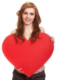 Woman holding Valentines Day heart Royalty Free Stock Photo