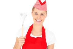 Woman holding a whisk Royalty Free Stock Photo