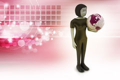 Woman is holding world globe Royalty Free Stock Photo