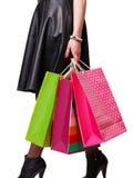 Woman holds bag Stock Image