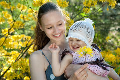 Woman holds daughter Royalty Free Stock Photo