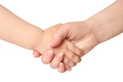 Woman holds by the hand child Stock Images