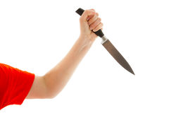 The woman holds a knife in his hand Stock Photo