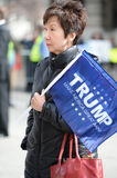 Woman Holds Sign Outside Trump Rally in Saint Louis Royalty Free Stock Photography