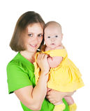 The woman holds the small child Stock Photography