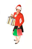Woman holiday shopper Stock Photography