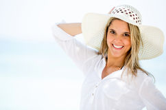 Woman on holidays Stock Photography