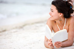 Woman on Holidays Royalty Free Stock Photos