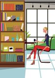 Woman at Home 1-2 Stock Photo