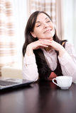 Woman at home Royalty Free Stock Photography