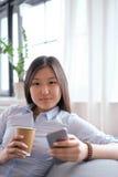 Woman at home Stock Photos