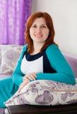 Woman in   home interior. Stock Photos