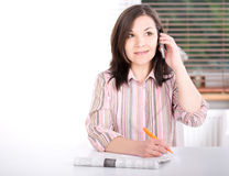 Woman at home looking for a job Stock Photos