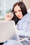 Woman at home office Royalty Free Stock Photos