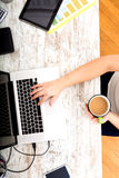 Woman in the home office Royalty Free Stock Image