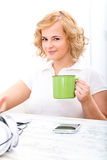 Woman in the home office Stock Photo