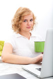 Woman in the home office Stock Photography