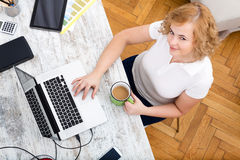 Woman in the home office Stock Image