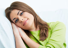 Woman home relax . Royalty Free Stock Photo