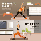 Woman Home Workout Royalty Free Stock Photography