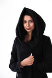 Woman in hood Stock Photos